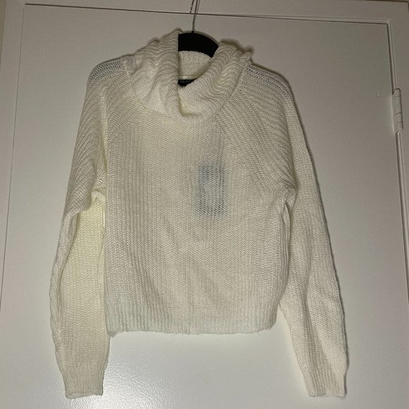 White Roll Neck Sweater